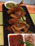 bebek goreng tiga sambal indonesia